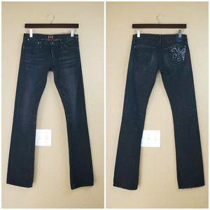 Goldsign Envy Low Rise Black Denim Jeans